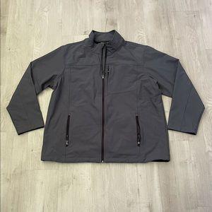 Swiss Tech Full Zip Up Softshell Jacket Gray
